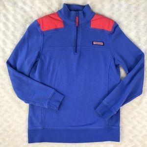 Vineyard Vines 1/4 Zip Pullover Size XXS Blue Red